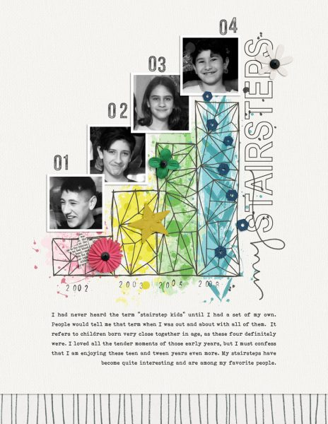 Ideas for Scrapbook Page Storytelling with a Simple Linear Style | Dawn Farias | Get It Scrapped