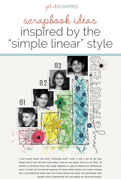 Ideas for Scrapbook Page Storytelling with a Simple Linear Style | Get It Scrapped