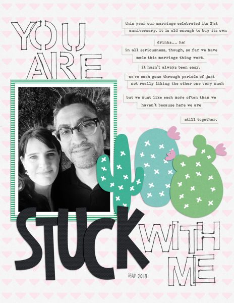 Ideas for Scrapbook Page Storytelling with a Succulent Motif   Dawn Poirier-Brode   Get It Scrapped