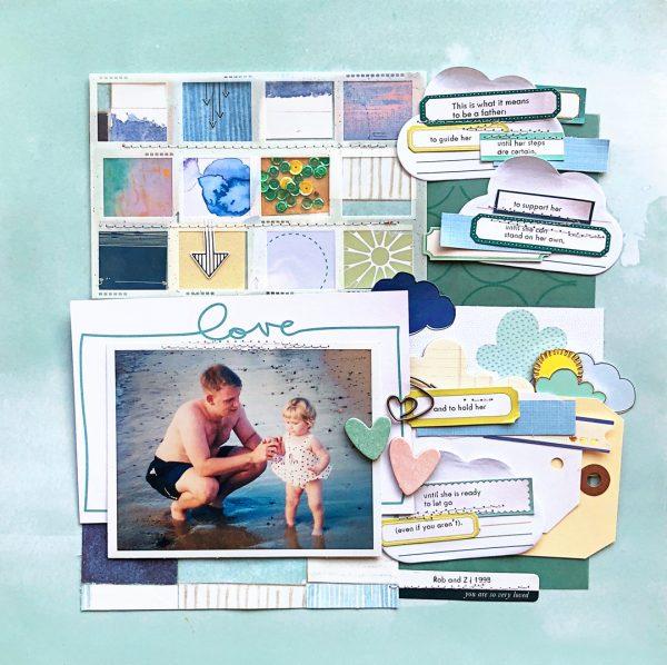 Celebrating Fatherhood on the Scrapbook Page | Jill Sprott | Get It Scrapped