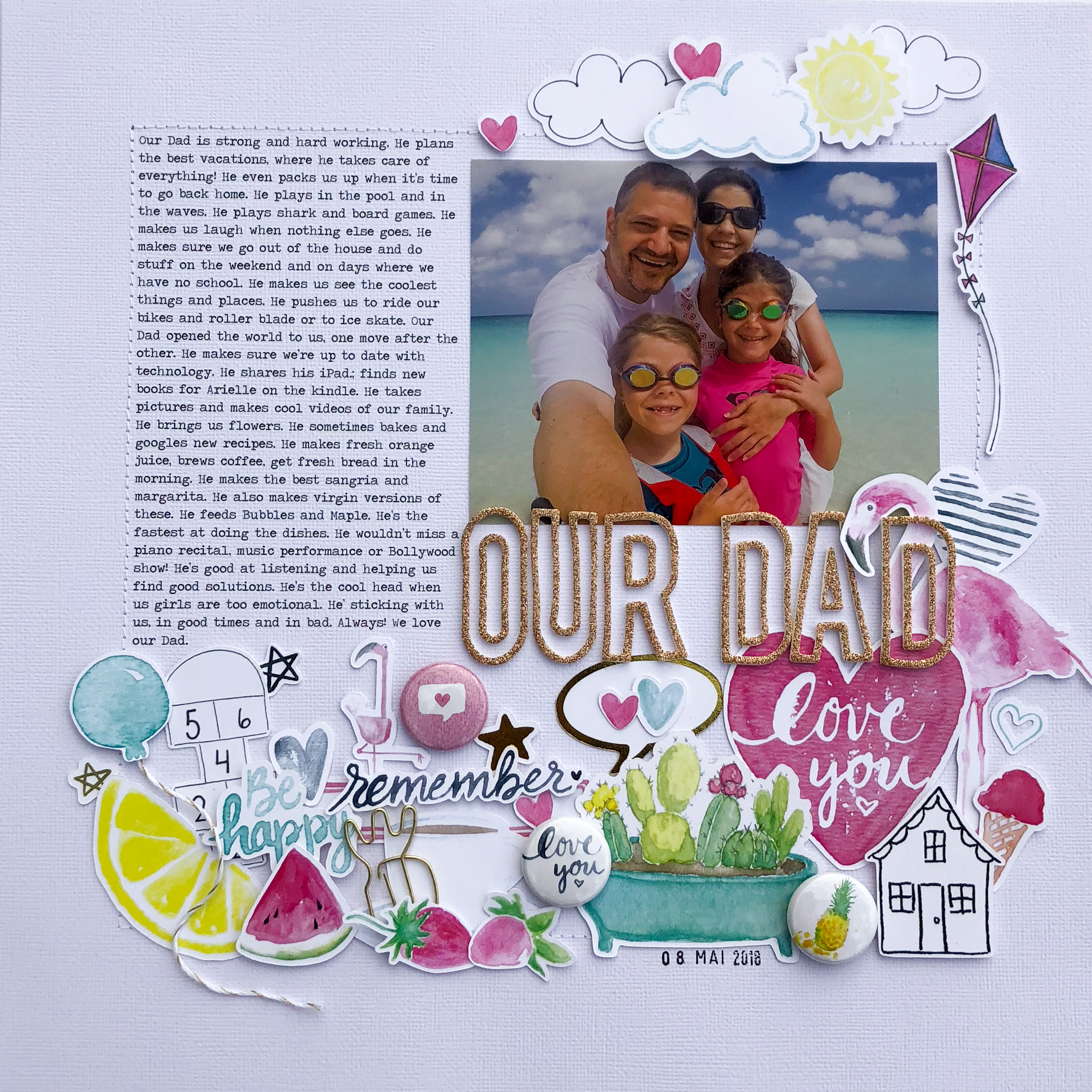 Celebrating Fatherhood on the Scrapbook Page