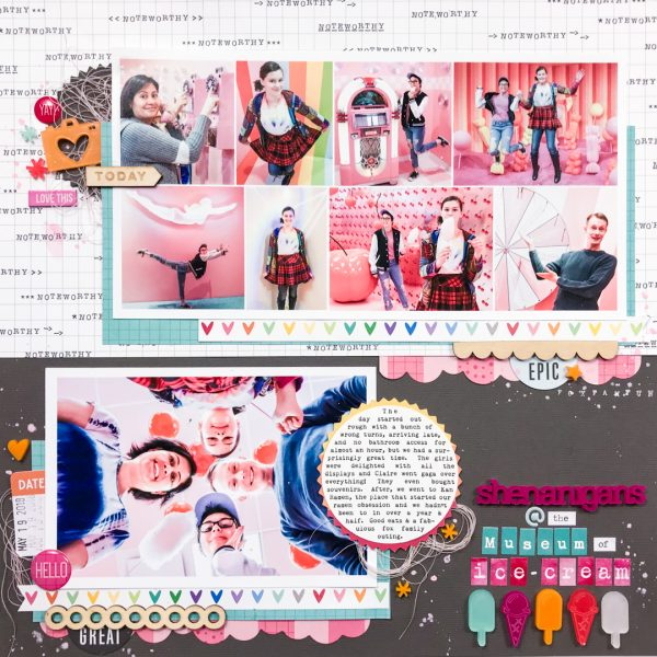 Change Up Your Scrapbook Page Designs with a Half and Half Approach | Iris Fox | Get It Scrapped
