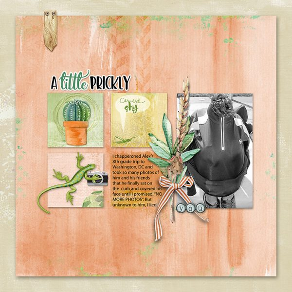 Ideas for Scrapbook Page Storytelling with a Succulent Motif | Deborah Wagner | Get It Scrapped