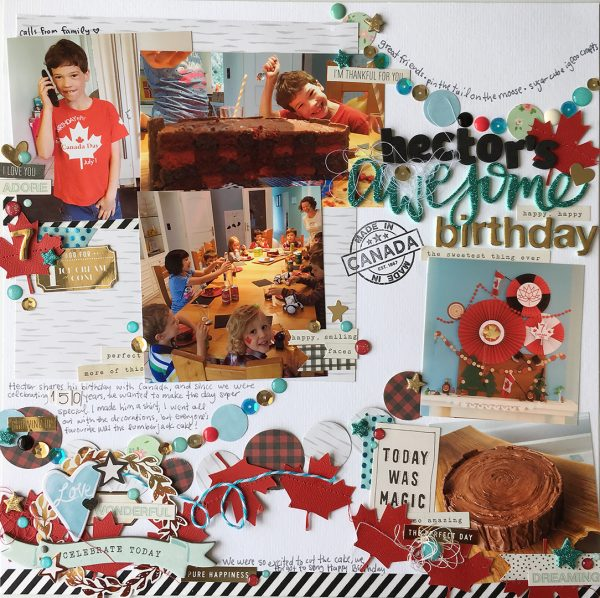 Scrapbook Ideas for Getting Your Party Photos on the Page | Cara Vincens | Get It Scrapped