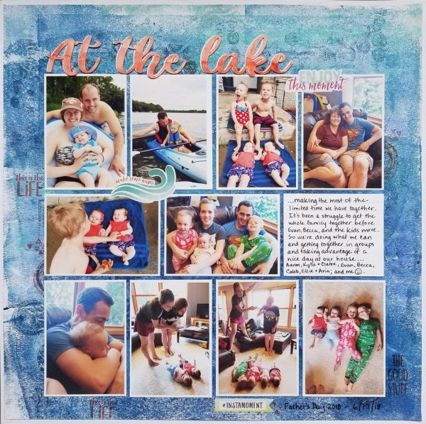 Scrapbook Ideas for Creating a Gel-Printed Look on Your Page Background | Marcia Fortunato | Get It Scrapped