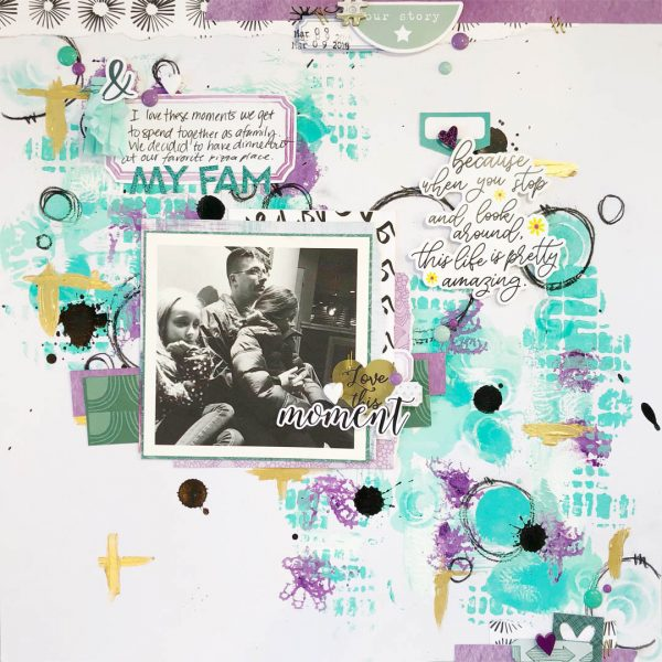Scrapbook Ideas for Creating a Gel-Printed Look on Your Page Background | Hannah Lemieux | Get It Scrapped
