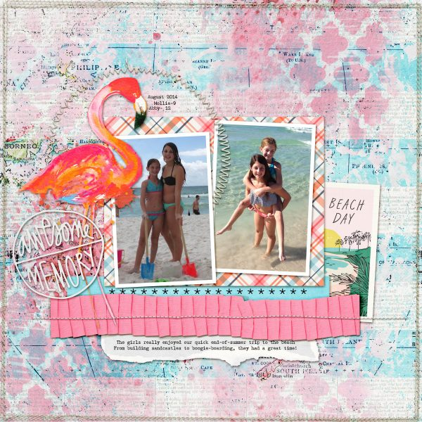 Scrapbook Ideas for Creating a Gel-Printed Look on Your Page Background | Kelly Prang | Get It Scrapped