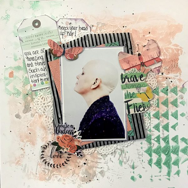 Scrapbook Ideas for Creating a Gel-Printed Look on Your Page Background | Christy Strickler | Get It Scrapped