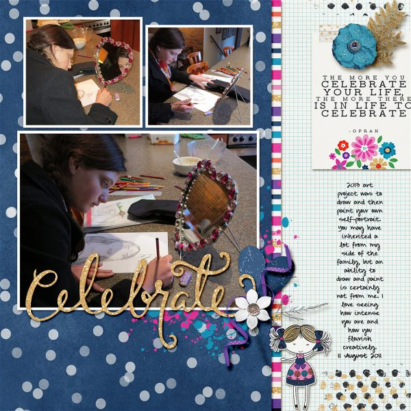 Scrapbook Ideas for Adding a Little Bit of Sparkle to the Page | Stefanie Semple | Get It Scrapped