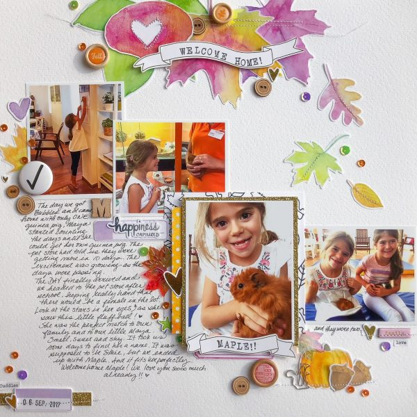 Scrapbook Ideas for Adding a Little Bit of Sparkle to the Page | Marie-Pierre Capistran | Get It Scrapped