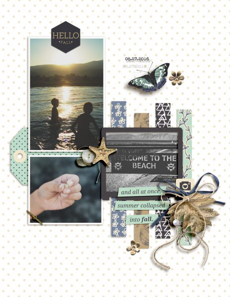 Scrapbook Ideas for Adding a Little Bit of Sparkle to the Page | Amy Kingsford | Get It Scrapped