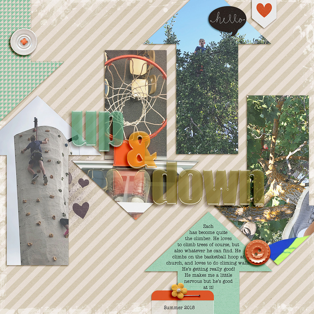 Using Repeating Shapes on the Scrapbook Page to Reinforce Your Story and Design