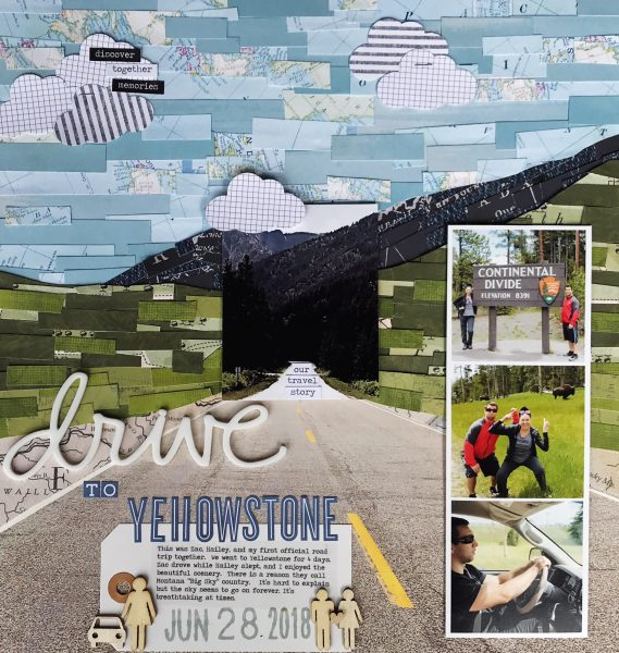 Scrapbook Ideas for Using a Pieced or Collage Base as a Backdrop | Shanna Hystad | Get It Scrapped