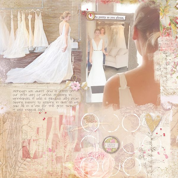 Scrapbook Ideas for Using a Pieced or Collage Base as a Backdrop | Deborah Wagner | Get It Scrapped