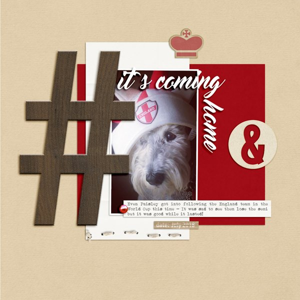 Scrapbook Page Ideas for using Hashtags | Ronnie Crowley | Get It Scrapped