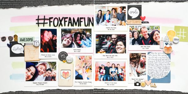 Scrapbook Page Ideas for using Hashtags | Iris Fox | Get It Scrapped