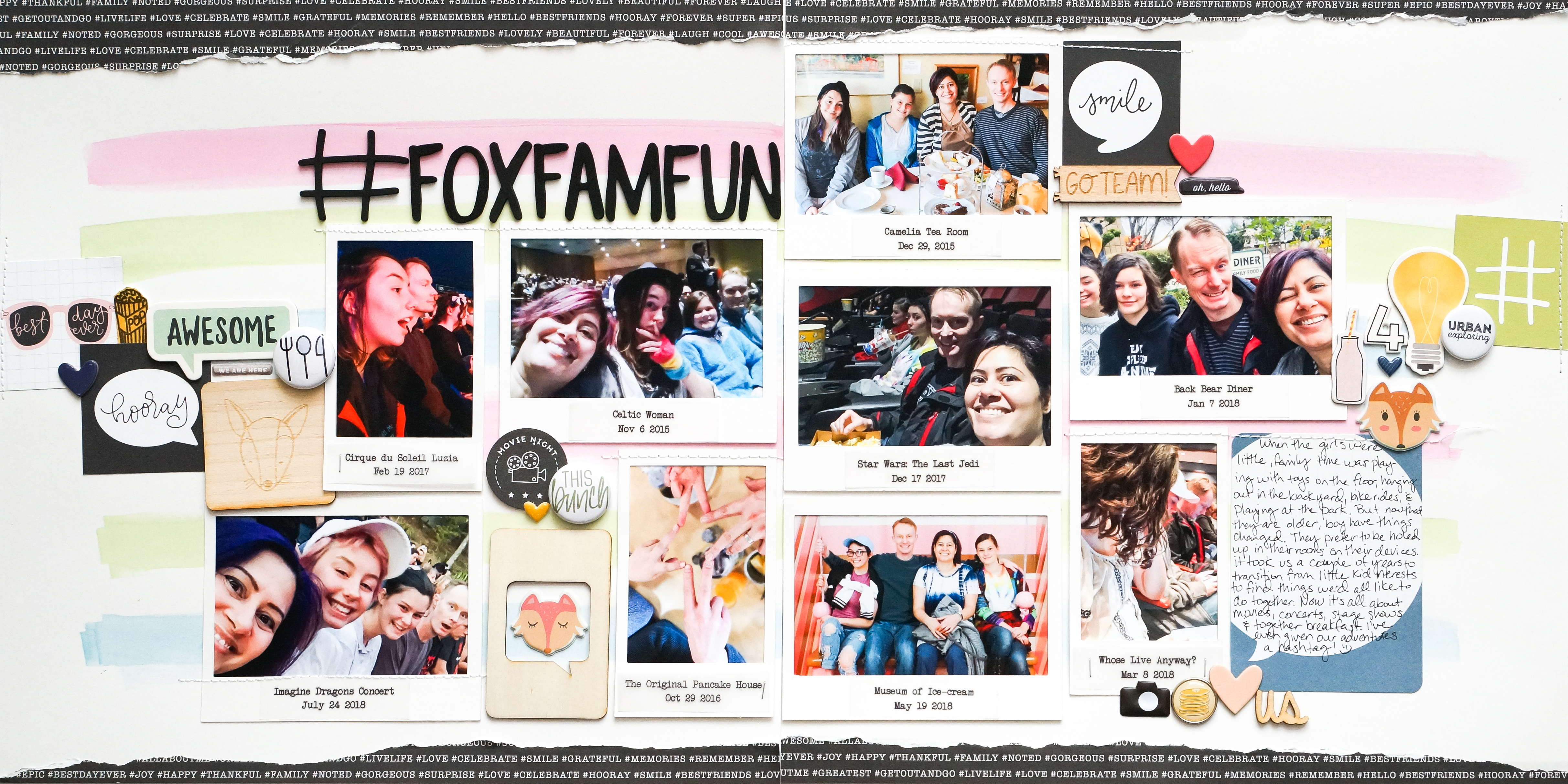 Scrapbook Page Ideas for Using Hashtags on Your Scrapbook Pages