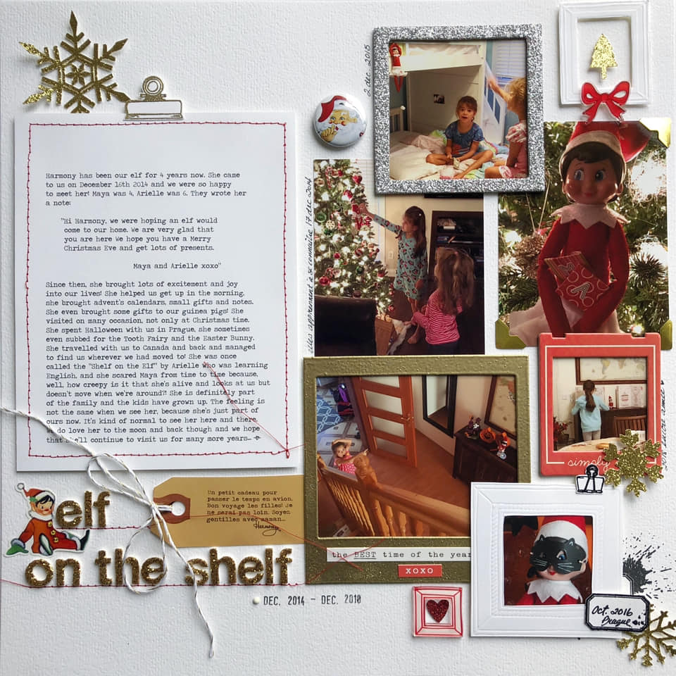 Scrapbook Ideas for Recording Holiday Constants & Changes