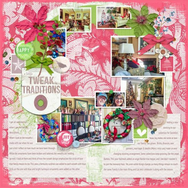 Scrapbook Ideas for Recording Holiday Constants & Changes | Karen Poirier-Brode | Get It Scrapped